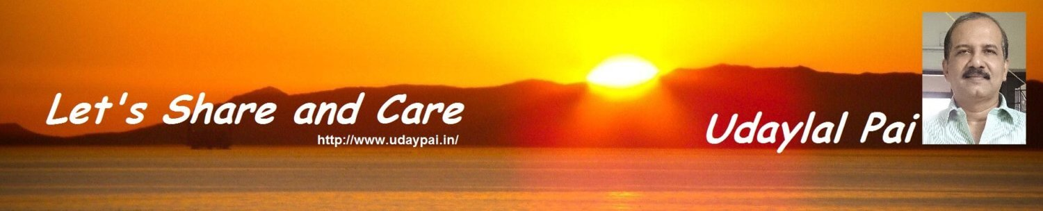 Let's share and care - Udaylal Pai